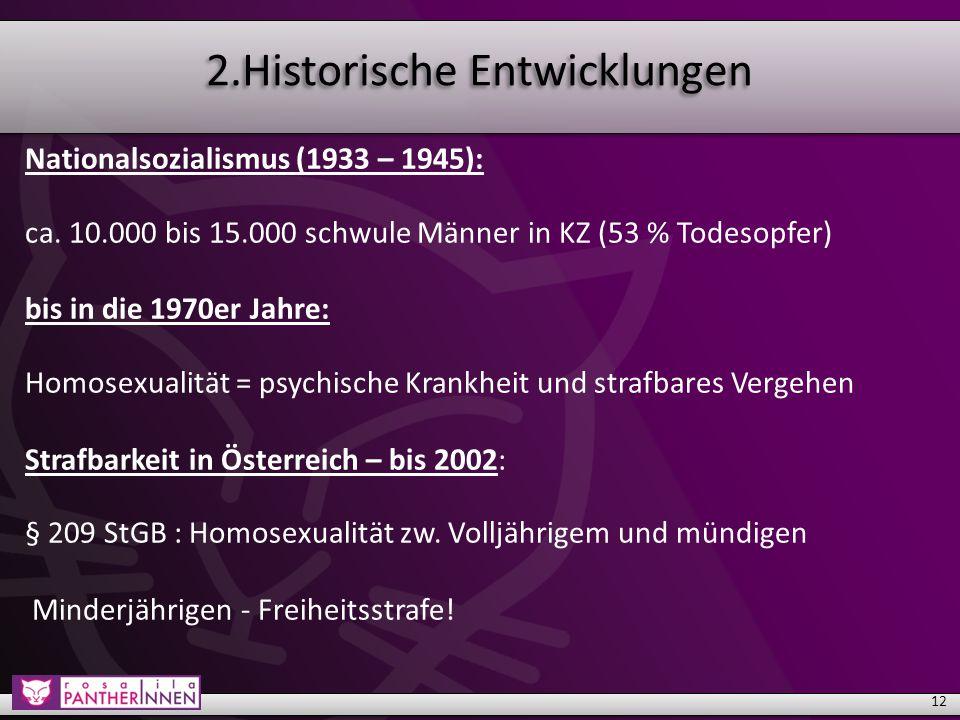 2.Historische Entwicklungen Nationalsozialismus (1933 – 1945): ca.