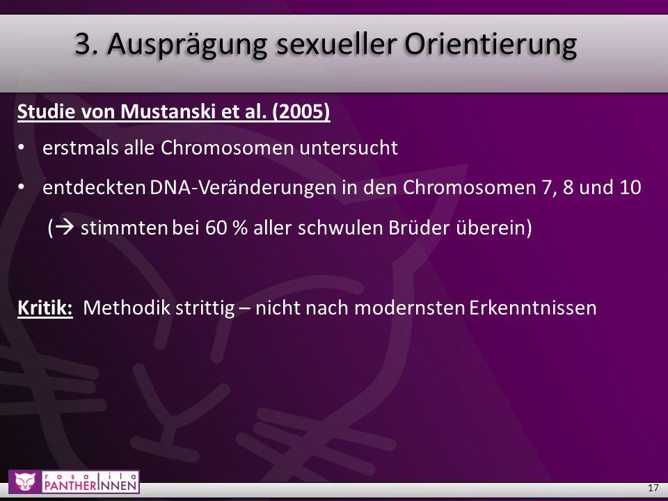 3. Ausprägung sexueller Orientierung Studie von Mustanski et al.