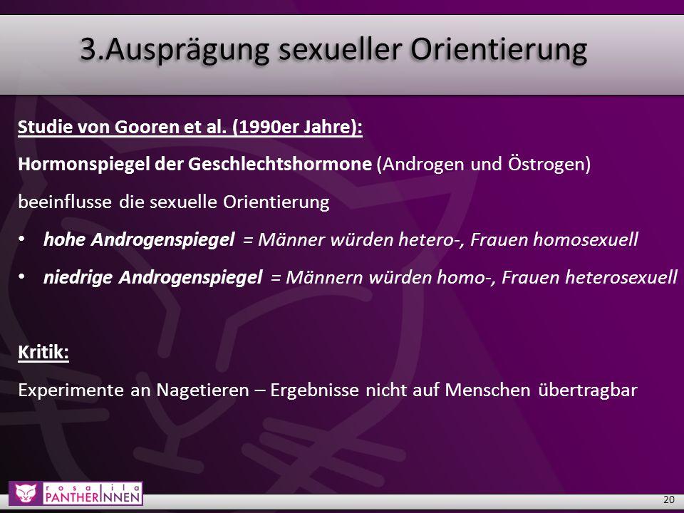 3.Ausprägung sexueller Orientierung Studie von Gooren et al.