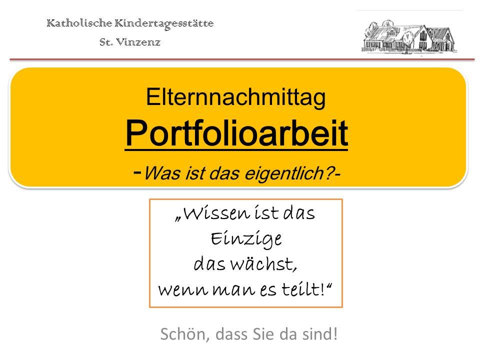 Arbeiten mit dem Portfolio (Portfoliotag) Positive Kind-Erzieher Beziehung -> nur so kann Lernen stattfinden 4.