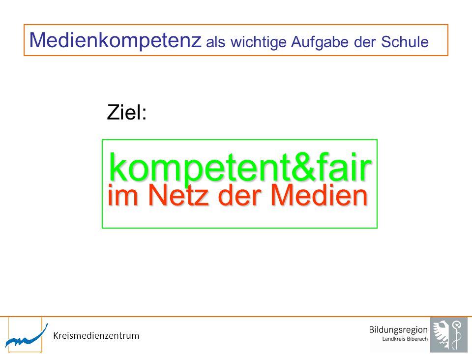 Kreismedienzentrum Medienkompetenz als wichtige Aufgabe der Schule Ziel: kompetent&fair im Netz der Medien