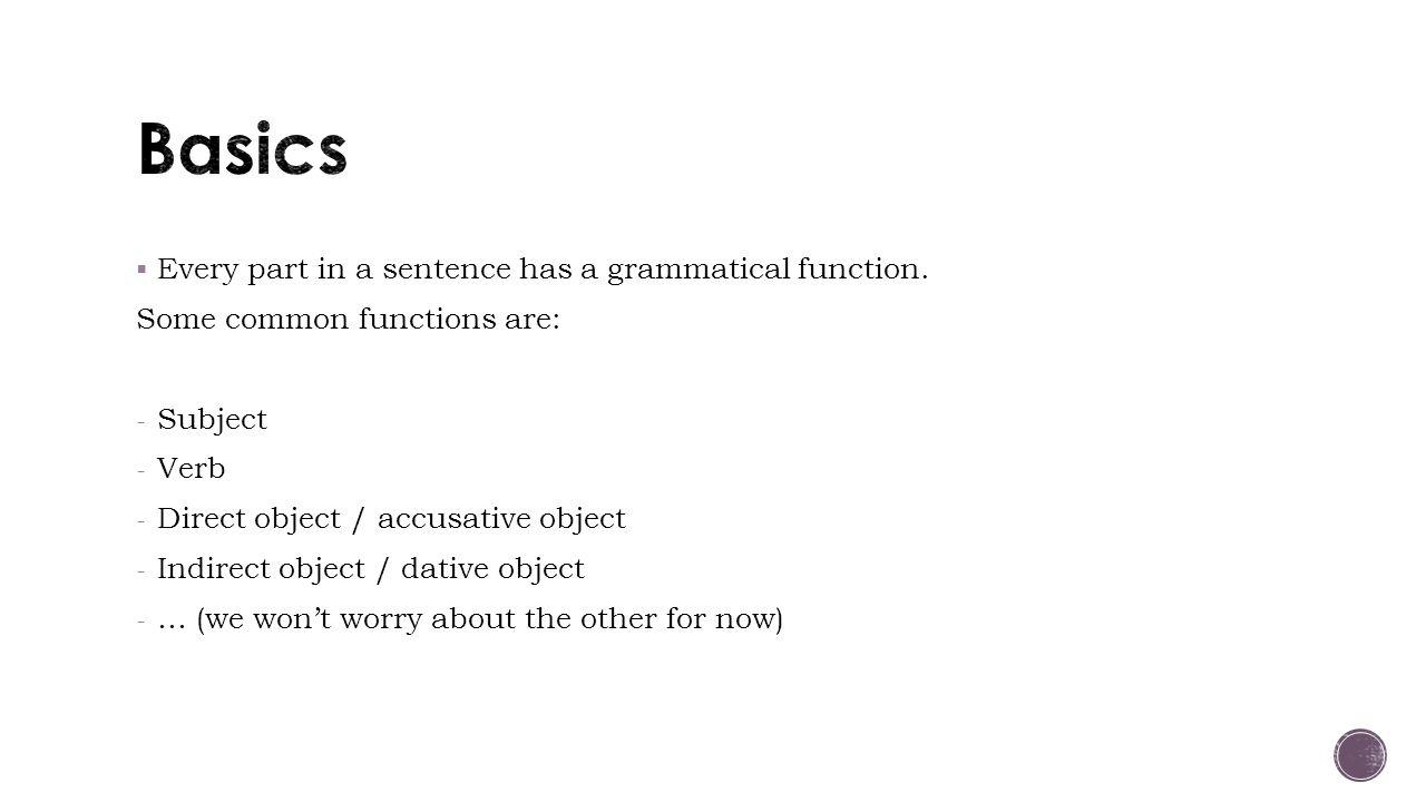- Nouns and pronouns always have a certain case.What does the term case mean.