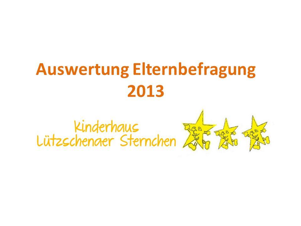 Auswertung Elternbefragung 2013
