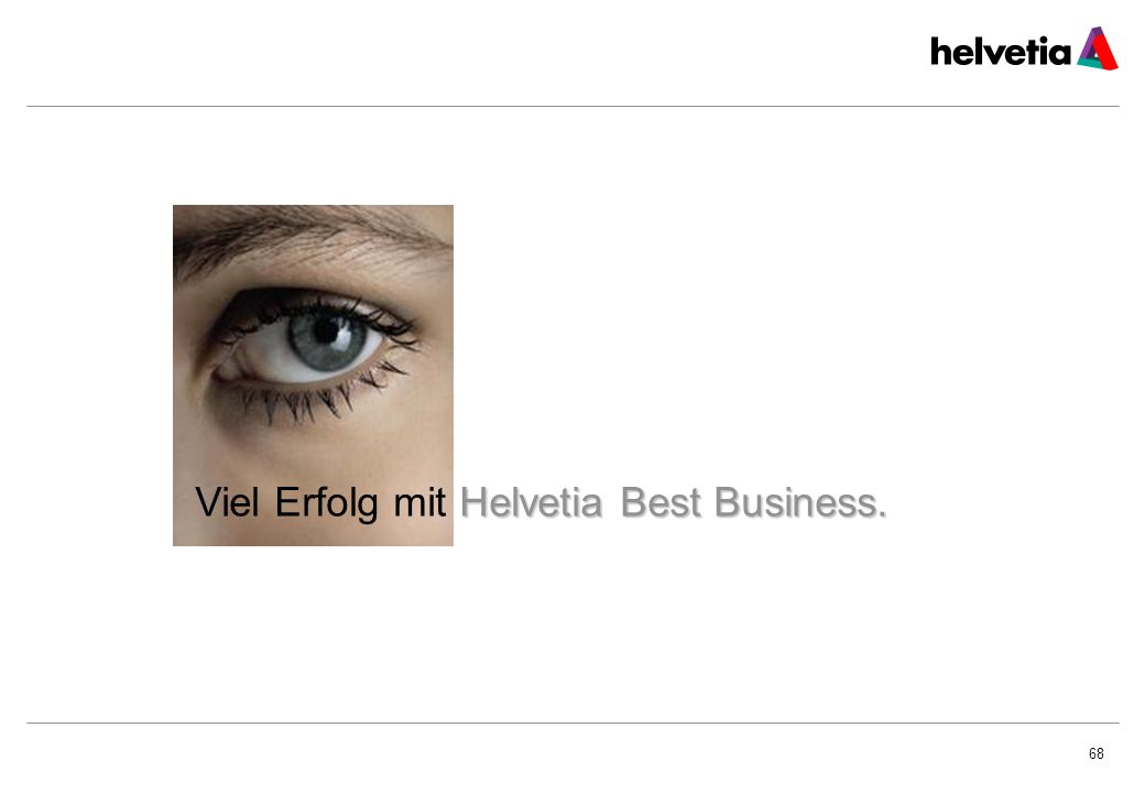 68 Helvetia Best Business. Viel Erfolg mit Helvetia Best Business.