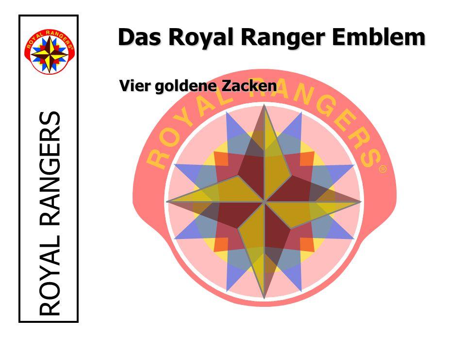 ROYAL RANGERS Das Royal Ranger Emblem Vier goldene Zacken