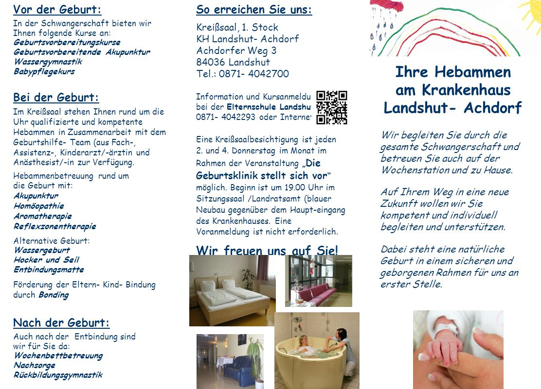 Vor der Geburt: In der Schwangerschaft bieten wir Ihnen folgende Kurse an: Geburtsvorbereitungskurse Geburtsvorbereitende Akupunktur Wassergymnastik B
