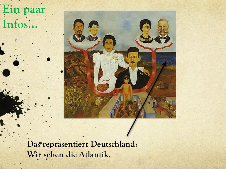 Ein paar Infos… Das repräsentiert Deutschland: Wir sehen die Atlantik.