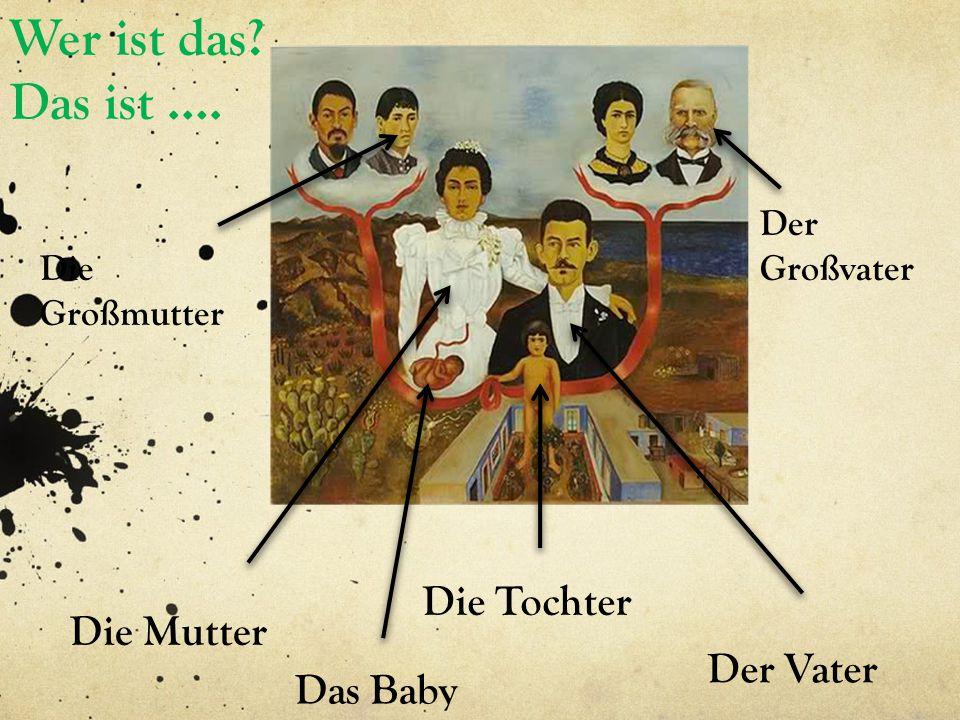 Die Tochter Die Mutter Der Vater Der Großvater Die Großmutter Das Baby Wer ist das? Das ist ….