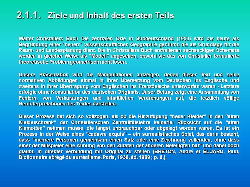 Walter Christallers Buch Die zentralen Orte in Süddeutschland (1933) wird bis heute als Begründung einer