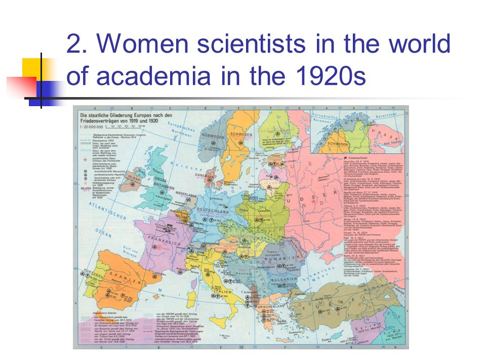 2. Women scientists in the world of academia in the 1920s