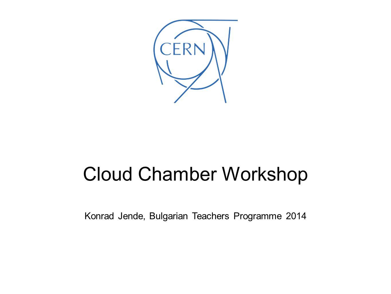 Konrad Jende, Bulgarian Teachers Programme 2014 Cloud Chamber Workshop