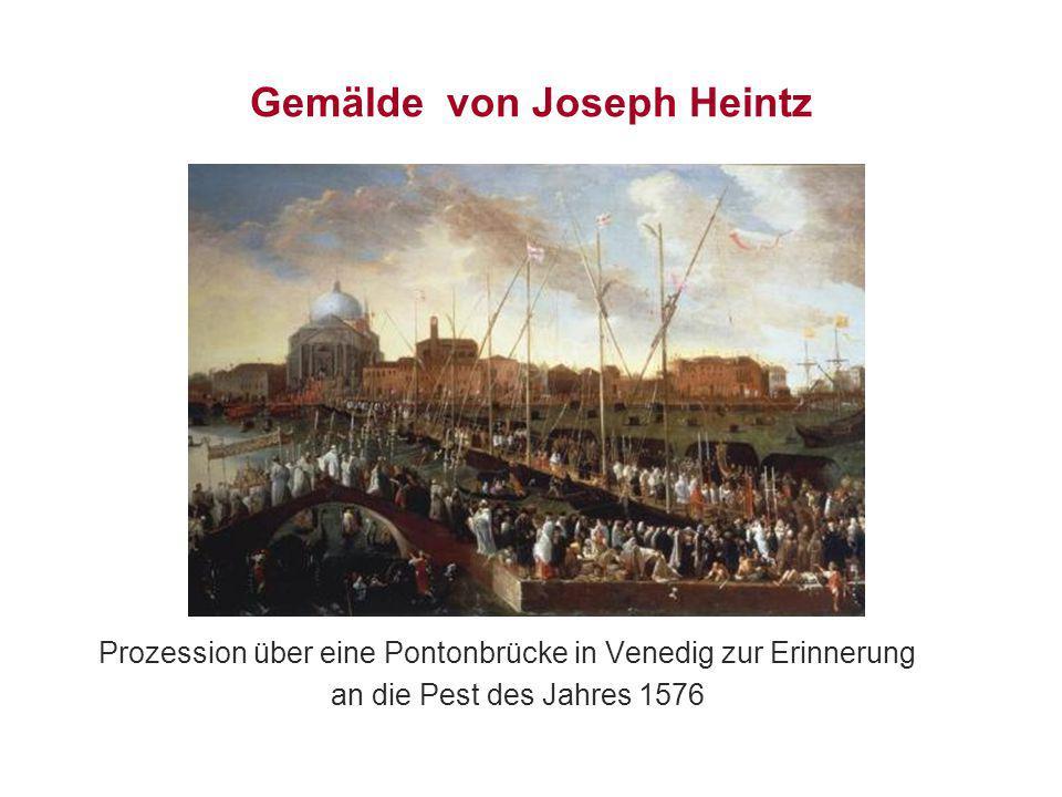 Gemälde von Joseph Heintz Prozession über eine Pontonbrücke in Venedig zur Erinnerung an die Pest des Jahres 1576