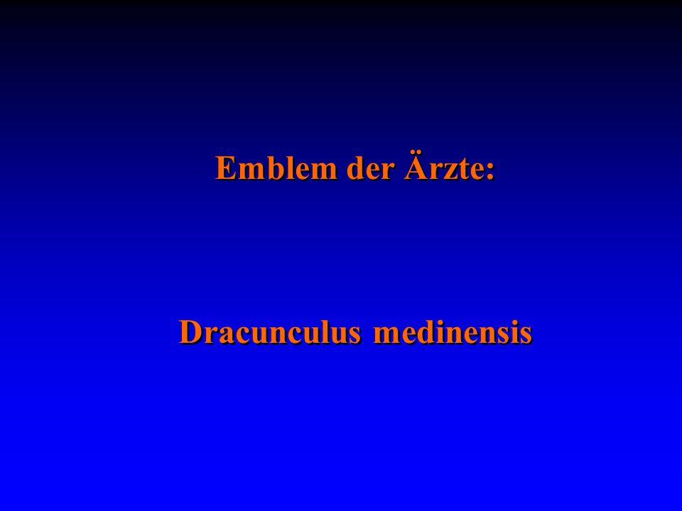 Emblem der Ärzte: Dracunculus medinensis Emblem der Ärzte: Dracunculus medinensis