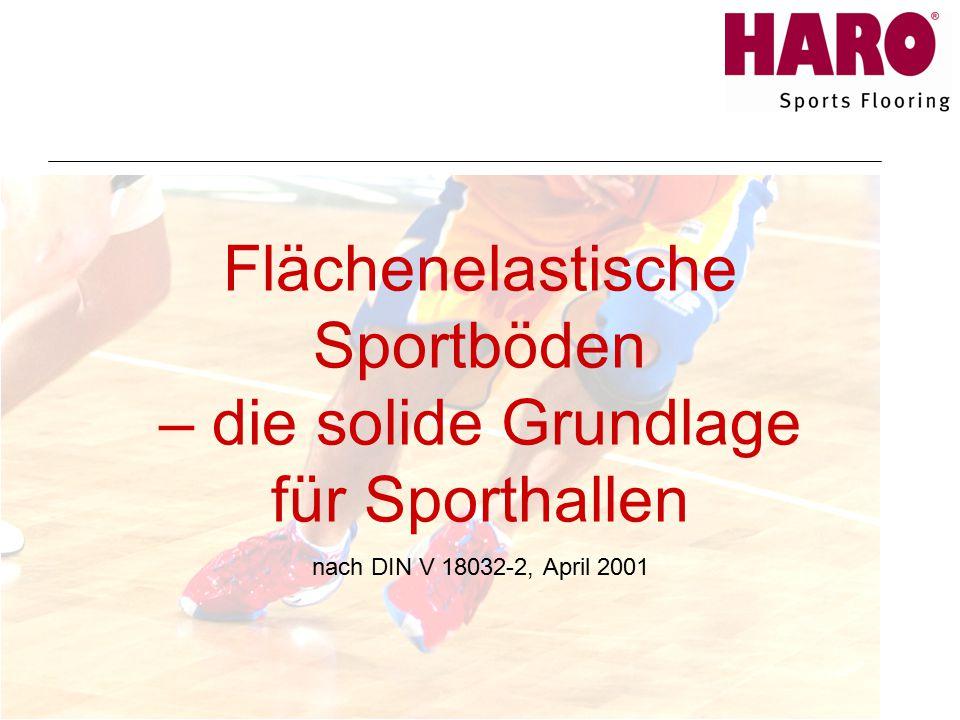 Flächenelastische Sportböden – die solide Grundlage für Sporthallen nach DIN V 18032-2, April 2001