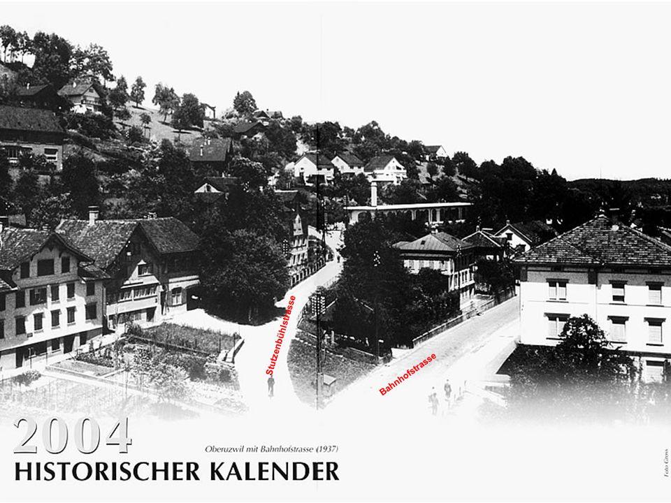 Wirtschaft zur Rose, Oberuzwil 1912 Das Bild zeigt die Hochzeitsgesellschaft des Brautpares Fritz Kopp und Elise Abderhalden vor ihrem eigenen Gasthaus