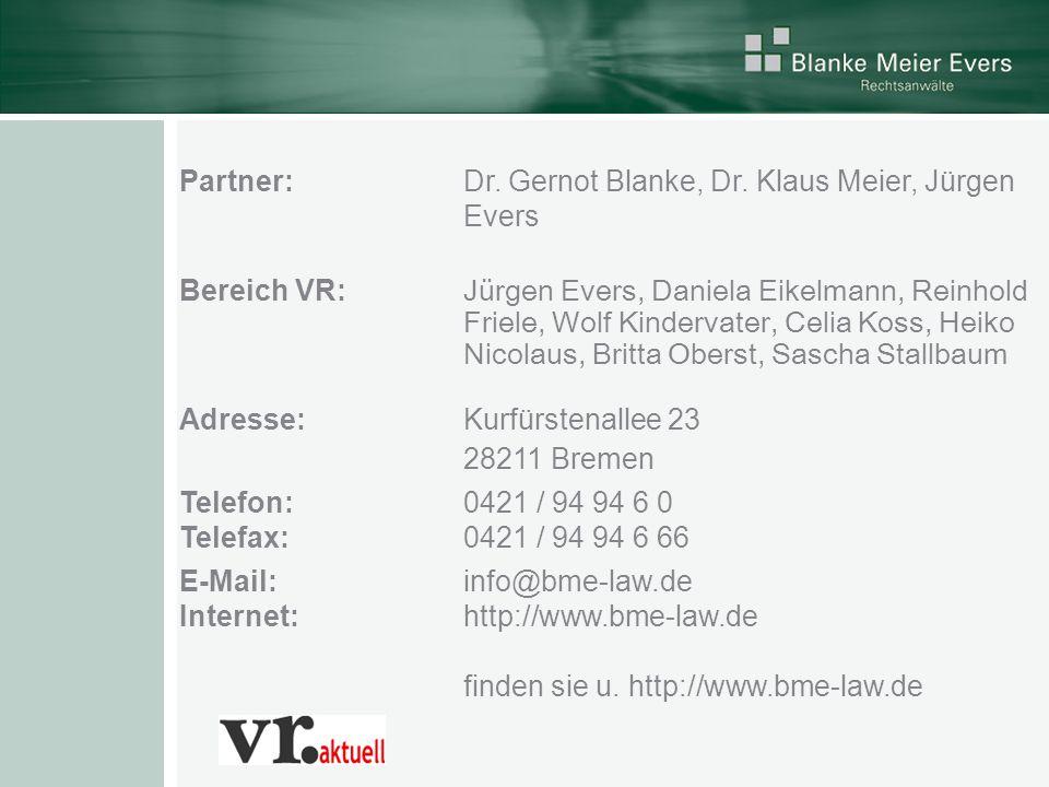 Partner: Dr. Gernot Blanke, Dr.