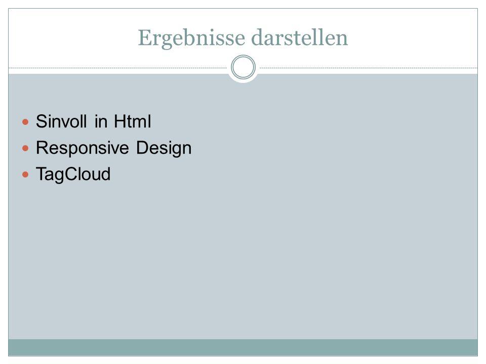 Ergebnisse darstellen Sinvoll in Html Responsive Design TagCloud