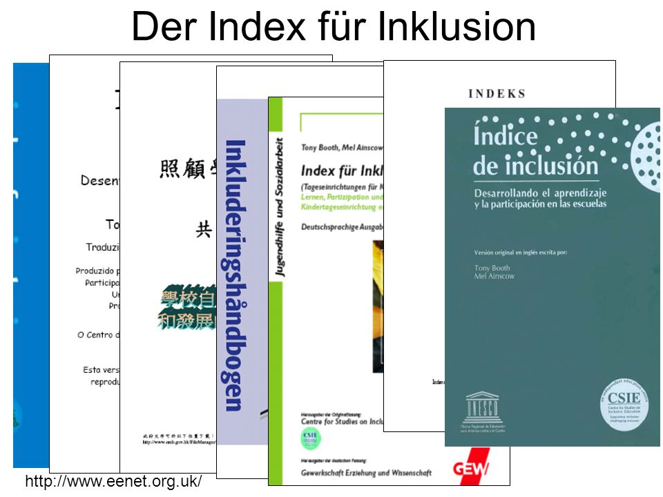 http://www.eenet.org.uk/ Der Index für Inklusion