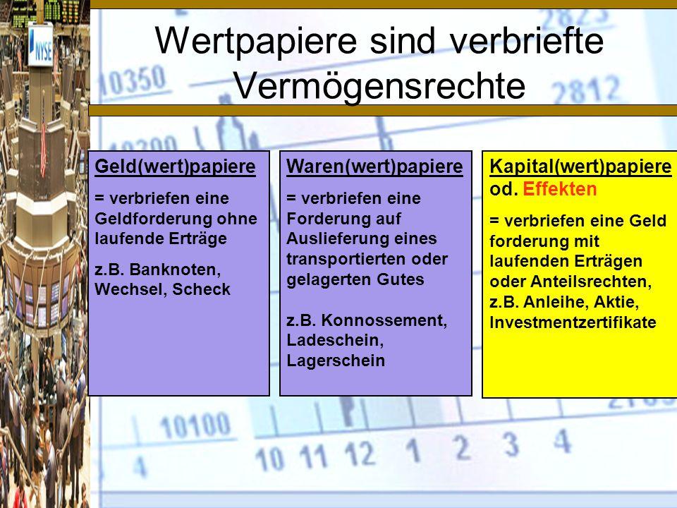 Notierung einer Anleihe http://www.wienerborse.at/bonds/