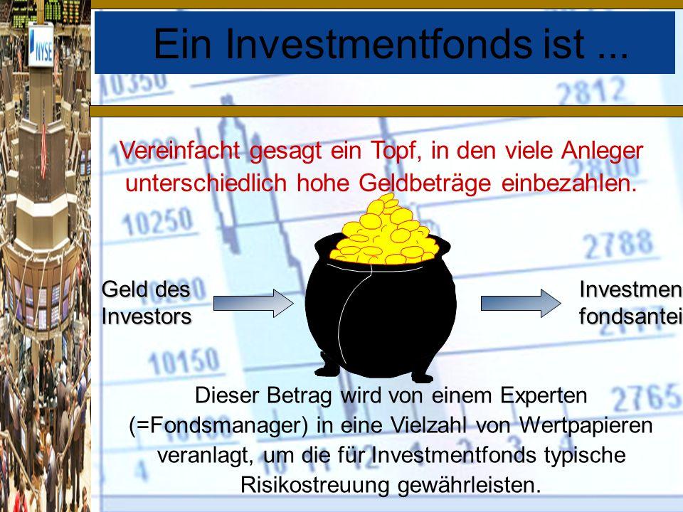 Ein Investmentfonds ist...