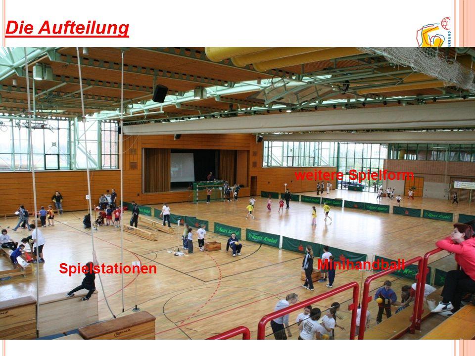 Die Aufteilung Spielstationen Minihandball weitere Spielform