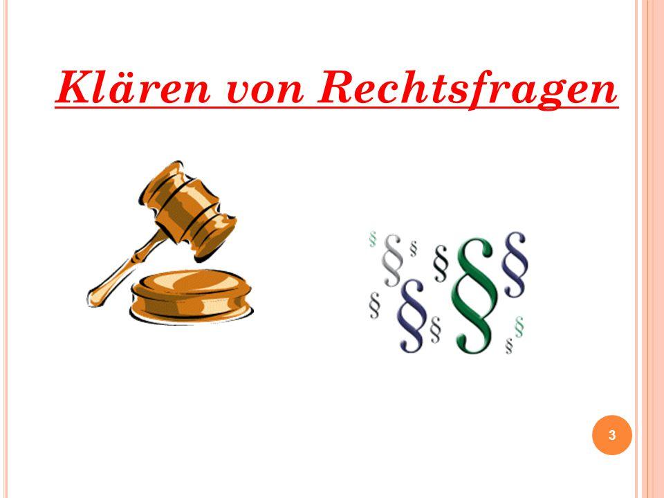 Klären von Rechtsfragen 3