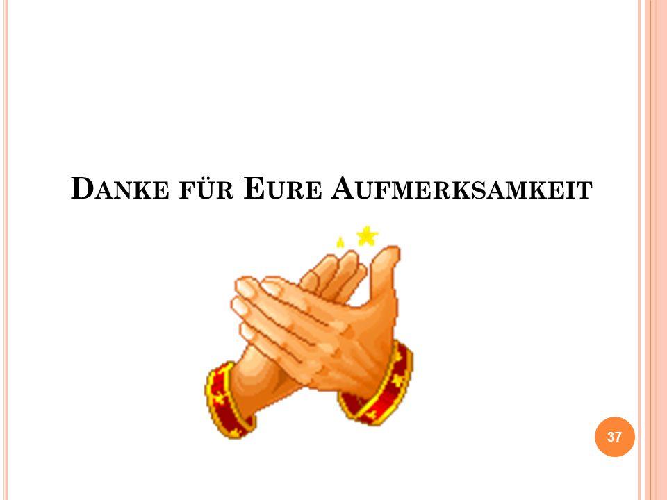 D ANKE FÜR E URE A UFMERKSAMKEIT 37