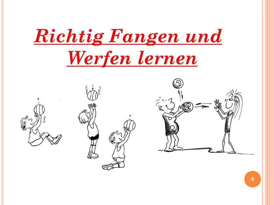 RICHTIG FANGEN UND WERFERN LERNEN 17 Regel Heftchen: Quelle: http://www.badischer-handball- verband.de/cms/iwebs/default.aspx?mmid=568&smid=2562http://www.youtube.com/watch?v=qFlp6phsYrQ