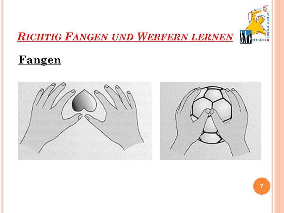 RICHTIG FANGEN UND WERFERN LERNEN Handball Regeln Video: Quelle: http://www.youtube.com/watch?v=qFlp6phsYrQ 18