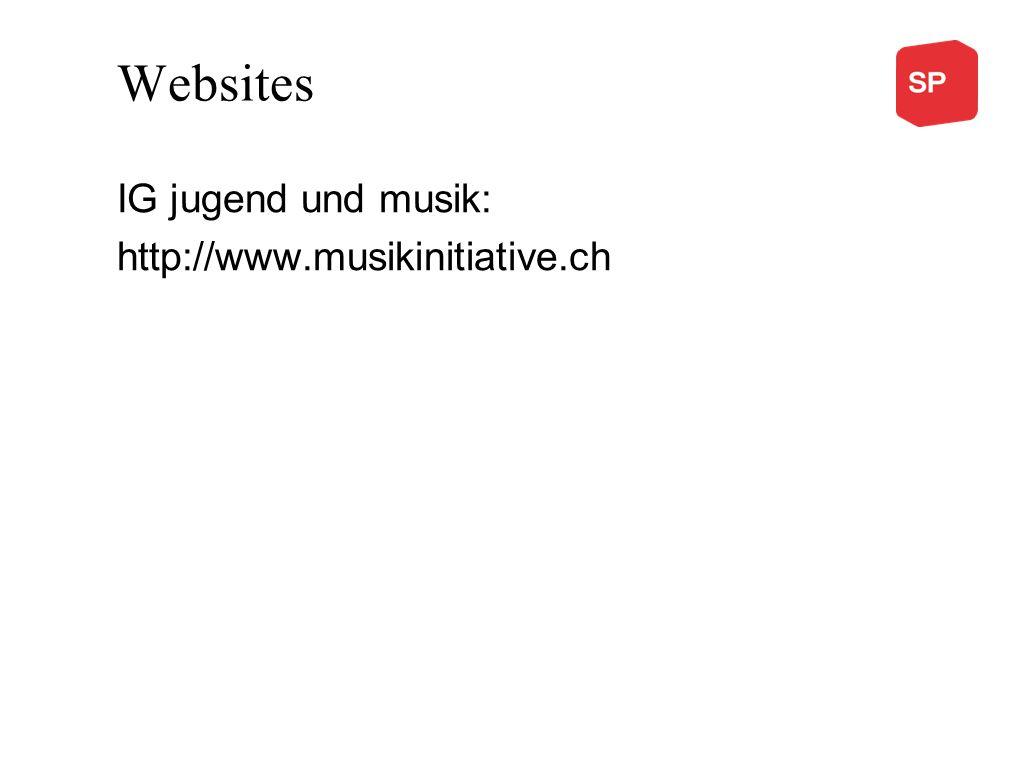 Websites IG jugend und musik: http://www.musikinitiative.ch