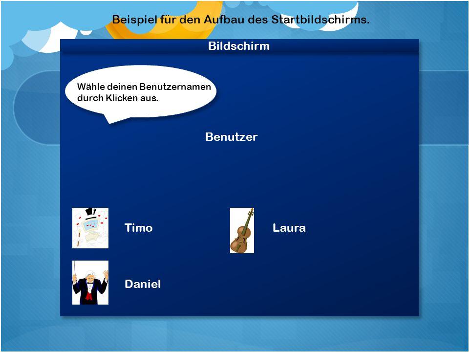 Bildschirm Willkommen bei Mendelssohn Boodygroove.