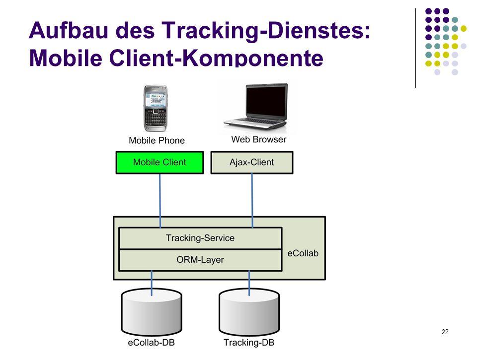 22 Aufbau des Tracking-Dienstes: Mobile Client-Komponente