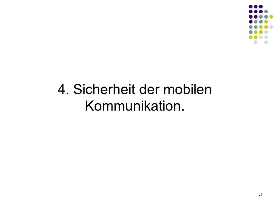 31 4. Sicherheit der mobilen Kommunikation.