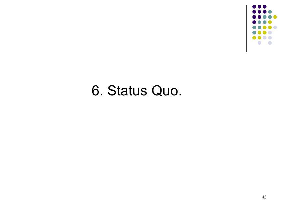 42 6. Status Quo.