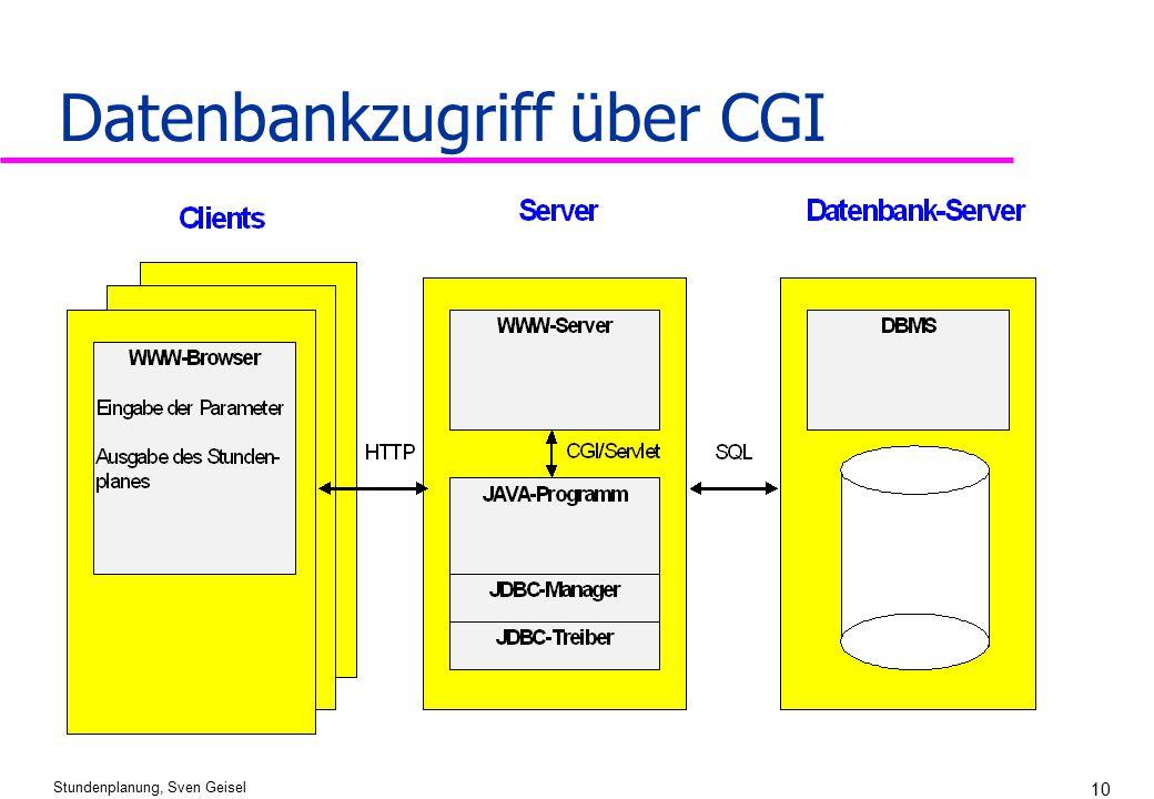 Stundenplanung, Sven Geisel 10 Datenbankzugriff über CGI