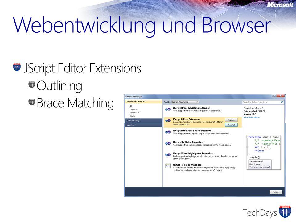 jQuery ist die beliebteste JavaScript Library Microsoft setzt voll auf jQuery Tooling und Integration von jQuery in Visual Studio wird wahrscheinlich verbessert WebForms, Ajax und jQuery ermöglichen dynamische und interaktive Applikationen Summary & Outlook
