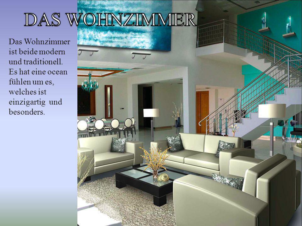 Das Wohnzimmer ist beide modern und traditionell.