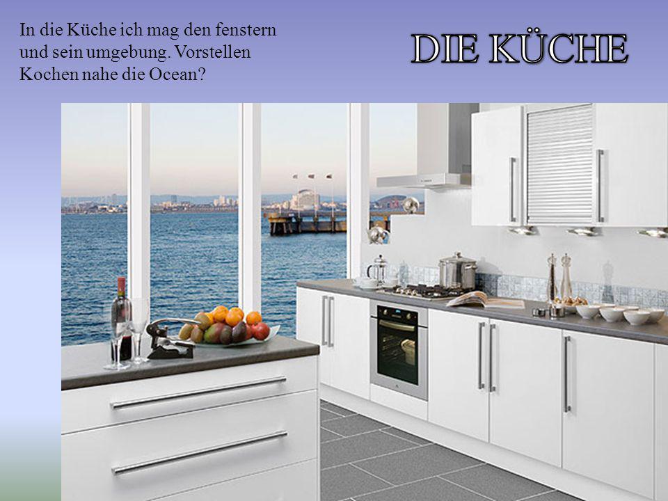 In die Küche ich mag den fenstern und sein umgebung. Vorstellen Kochen nahe die Ocean?