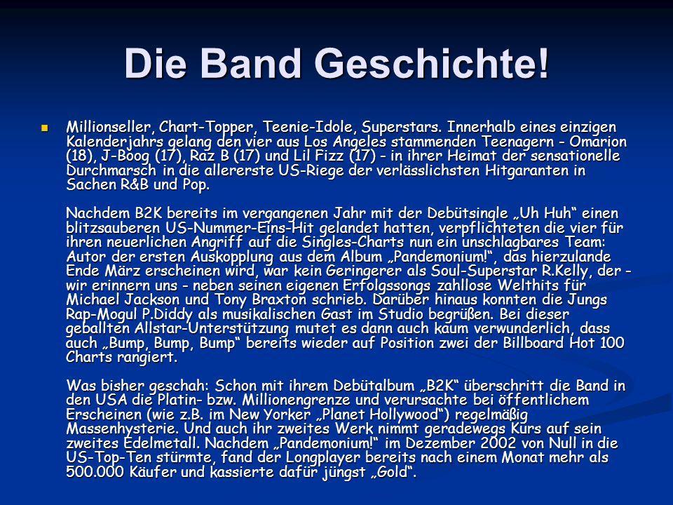 Die Band Geschichte. Millionseller, Chart-Topper, Teenie-Idole, Superstars.