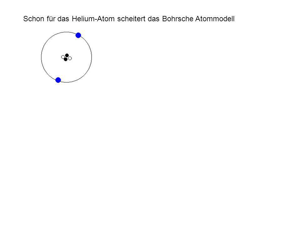 Schon für das Helium-Atom scheitert das Bohrsche Atommodell
