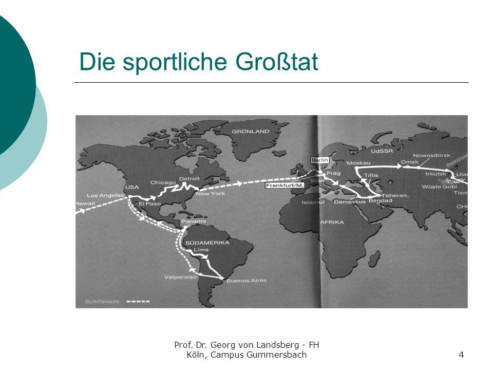Prof. Dr. Georg von Landsberg - FH Köln, Campus Gummersbach4 Die sportliche Großtat