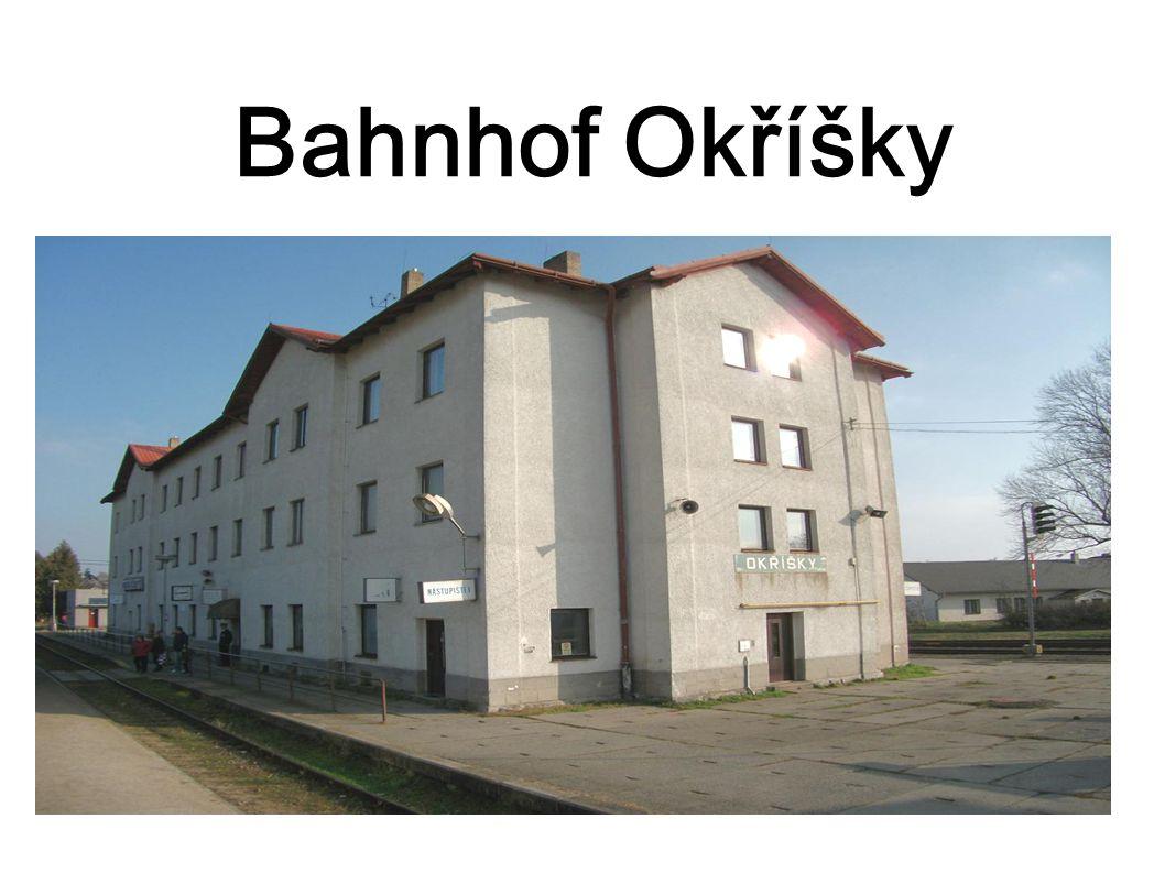 Bahnhof Okříšky