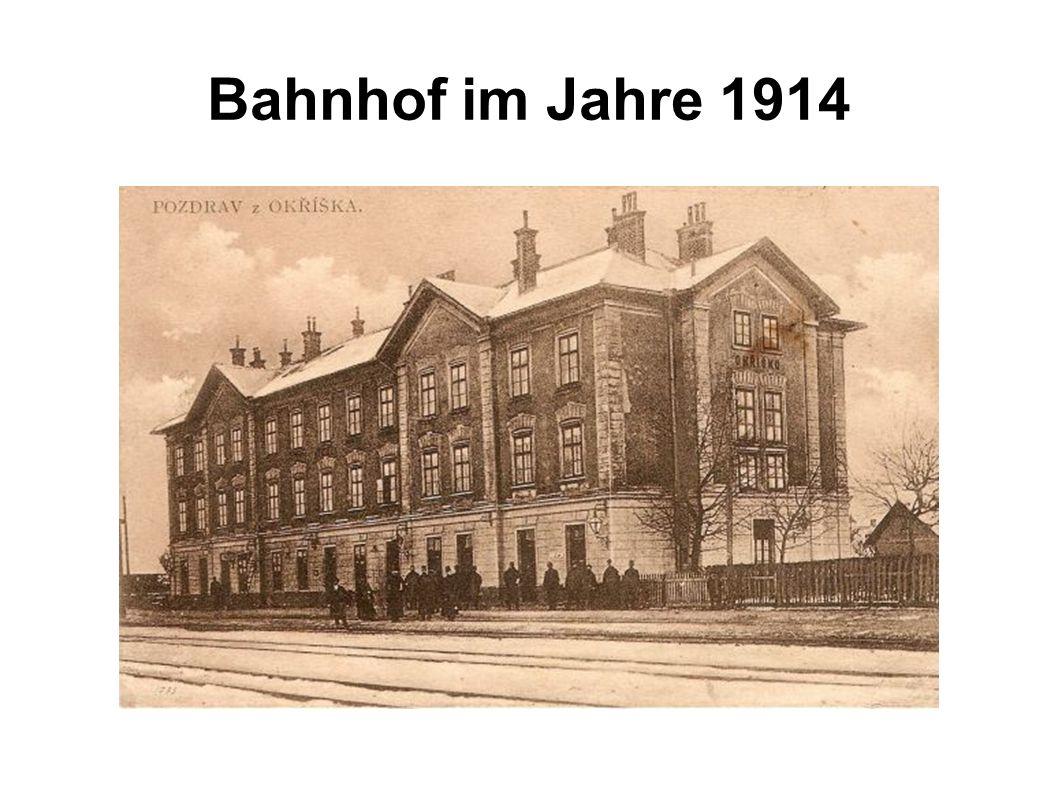 Bahnhof im Jahre 1914