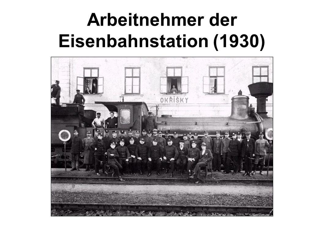 Arbeitnehmer der Eisenbahnstation (1930)