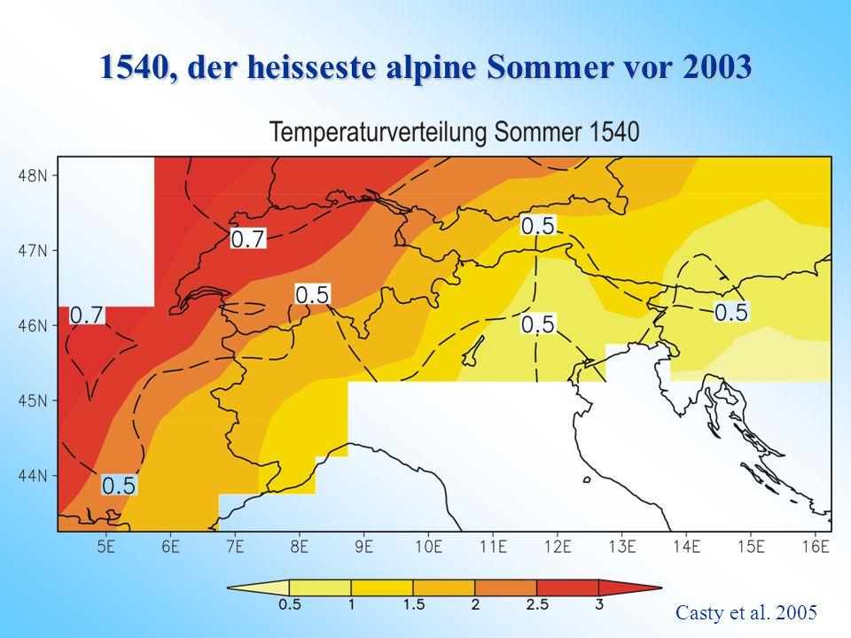 Sommer 2003 versus Sommer 1540 Luterbacher et al. 2004