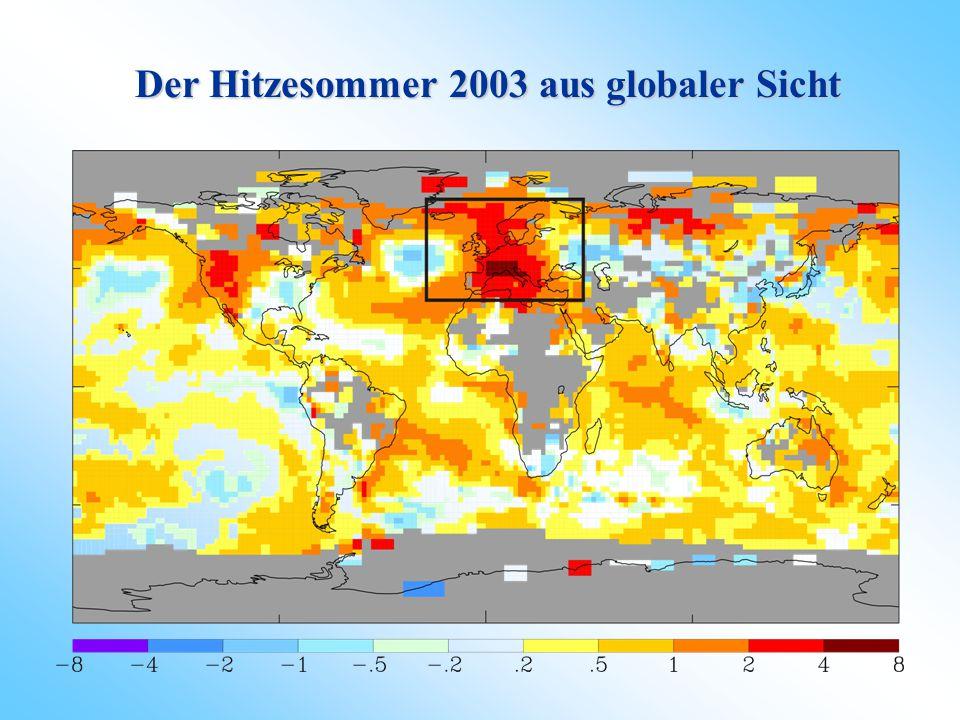 Inhalt Wie 'extrem' war der Sommer 2003 im Kontext des letzten halben Jahrtausends auf gesamteuropäischer Ebene? Wie 'extrem' war der Sommer 2003 im K