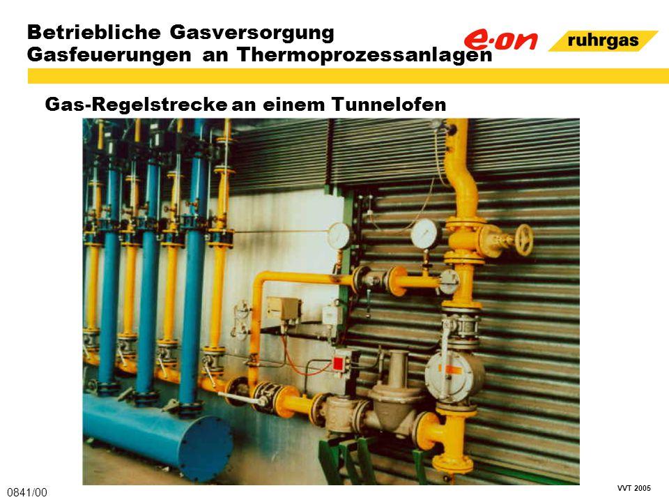 VVT 2005 Betriebliche Gasversorgung Gasfeuerungen an Thermoprozessanlagen Gas-Regelstrecke an einem Tunnelofen 0841/00