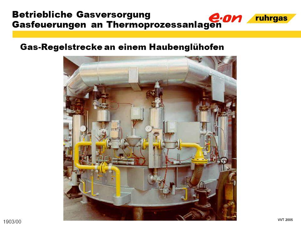 VVT 2005 Betriebliche Gasversorgung Gasfeuerungen an Thermoprozessanlagen Gas-Regelstrecke an einem Haubenglühofen 1903/00
