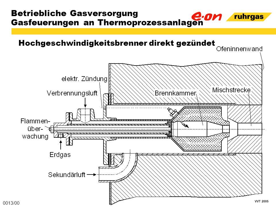 VVT 2005 Betriebliche Gasversorgung Gasfeuerungen an Thermoprozessanlagen Hochgeschwindigkeitsbrenner direkt gezündet 0013/00