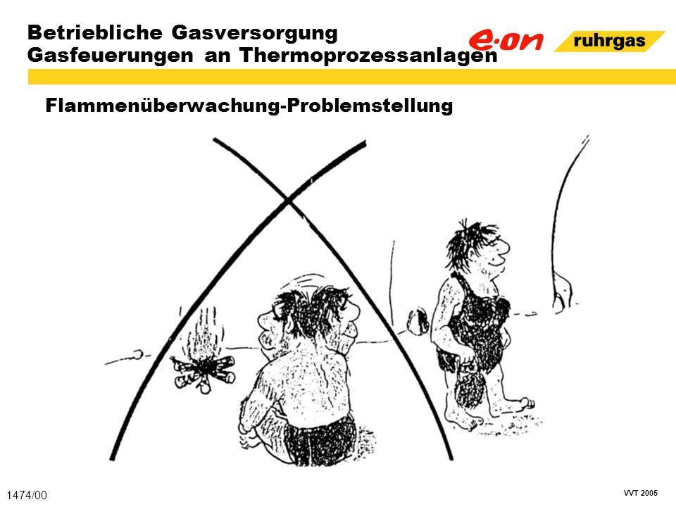 VVT 2005 Betriebliche Gasversorgung Gasfeuerungen an Thermoprozessanlagen Flammenüberwachung-Problemstellung 1474/00